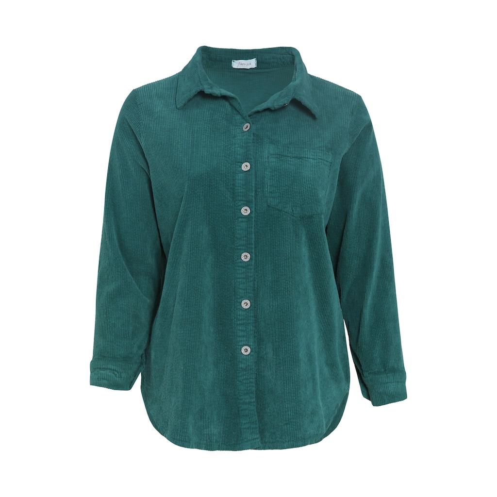 Paprika Klassische Bluse »Arme hochgekremmpelt«, gemustert