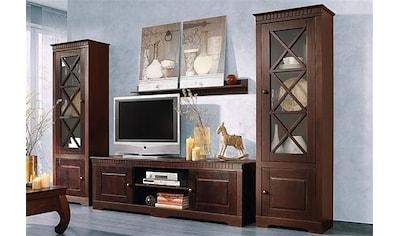 Wohnwand »Lisa«, (Set, 3 St.), bestehend aus zwei Vitrinen und einem Lowboard, aus... kaufen