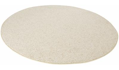 BT Carpet Teppich »Wolly 2«, rund, 12 mm Höhe, Woll-Optik, Hoch-Tief-Effekt, Wohnzimmer kaufen