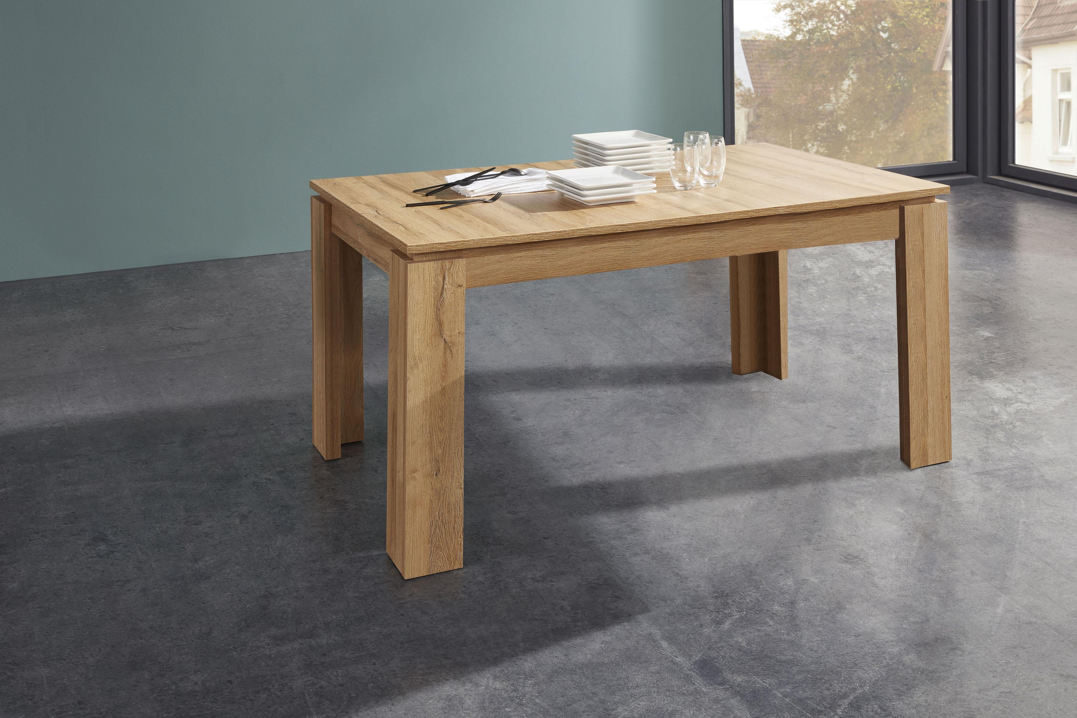 trendteam Esstisch, Länge 160-200cm beige Esstisch Ausziehbare Esstische Tische
