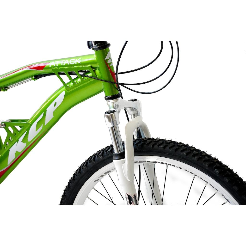 KCP Mountainbike »Attack«, 21 Gang, Shimano, Tourney RD-TY300-GS Schaltwerk, Kettenschaltung, (1 tlg.)