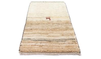 morgenland Wollteppich »Gabbeh Teppich handgeknüpft beige«, rechteckig, 15 mm Höhe,... kaufen