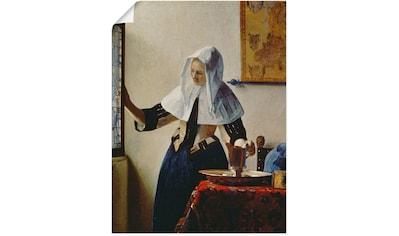 Artland Wandbild »Junge Frau mit Wasserkrug am Fenster« kaufen