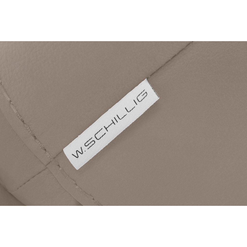 W.SCHILLIG Hocker »montanaa«, mit Metallfüßen in Silber matt, Breite 71 cm