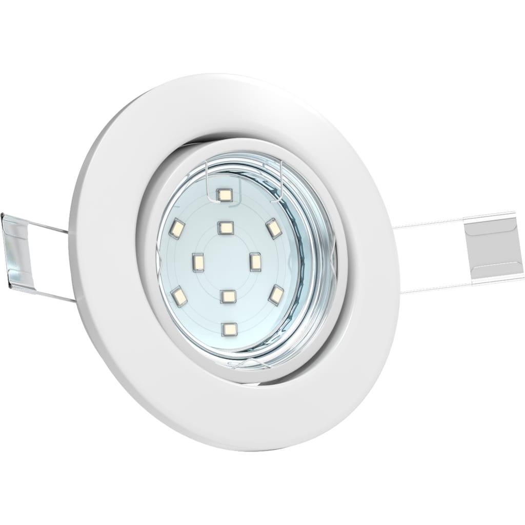 B.K.Licht LED Einbauleuchte »Hila«, GU10, 6 St., Warmweiß, LED Einbaustrahler schwenkbar weiß GU10 Decken-Spot Einbauspot 6er SET