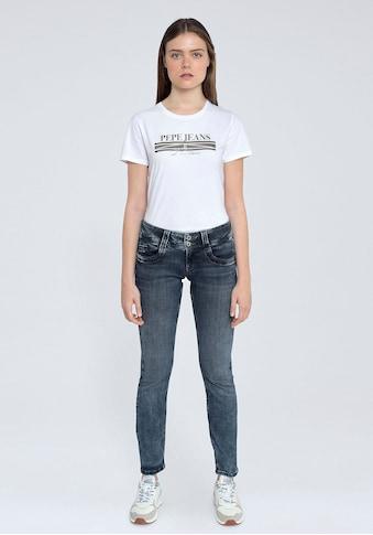 Pepe Jeans Straight-Jeans »GEN«, mit 2-Knopf Bund im Komfort-Stretch-Denim kaufen