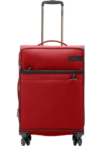 "Stratic Weichgepäck - Trolley ""Stratic Light M, red"", 4 Rollen kaufen"