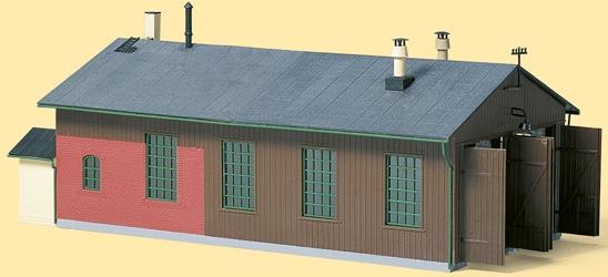 Auhagen Modelleisenbahn-Gebäude Lokschuppen zweiständig, Made in Germany braun Kinder Schienen Zubehör Modelleisenbahnen Autos, Eisenbahn Modellbau