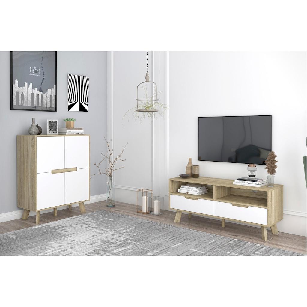 my home Lowboard »Delea«, Mit 2 Kabeldurchführungen