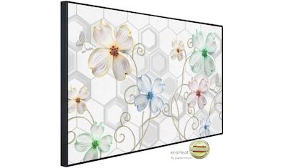 Papermoon Infrarotheizung »Muster mit Blumen«, sehr angenehme Strahlungswärme kaufen