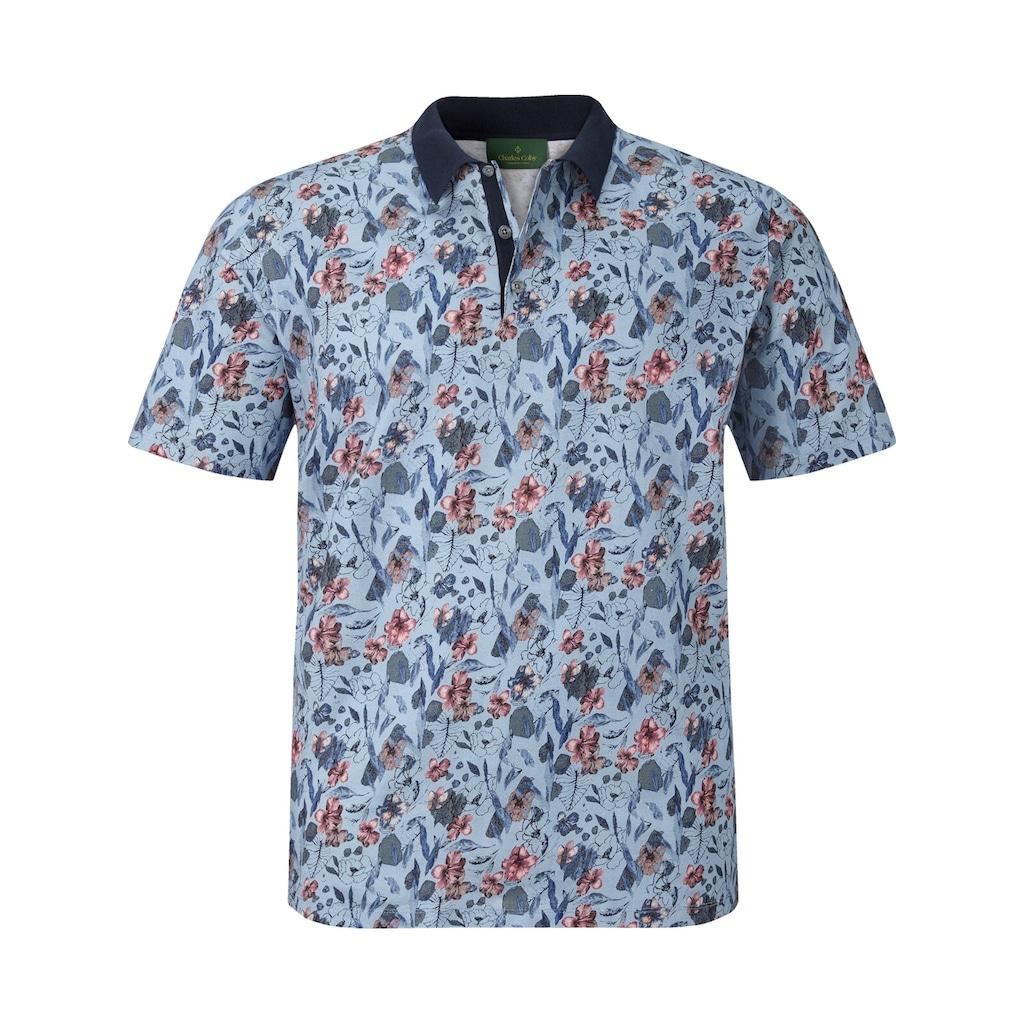 Charles Colby Poloshirt »EARL LUCA«, mit floralem Allover Druck
