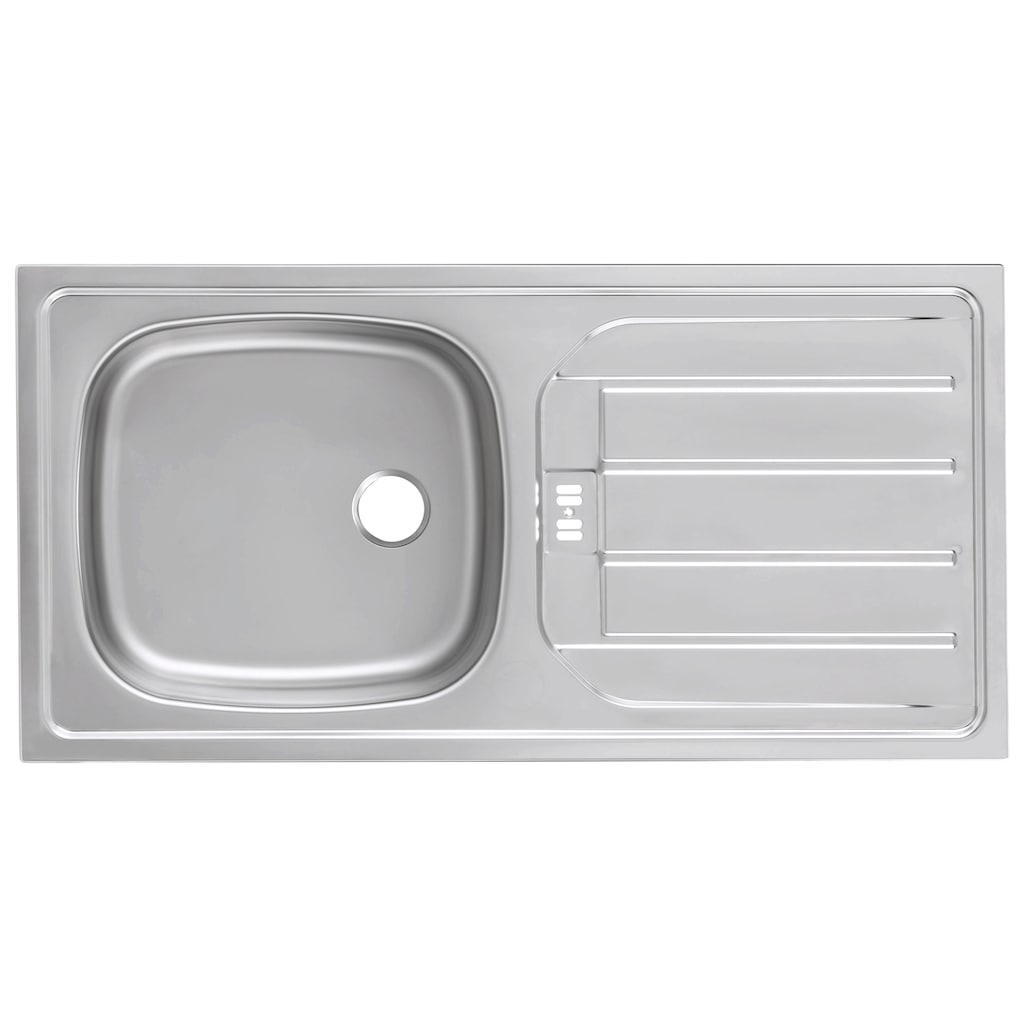 HELD MÖBEL Küchenzeile »Stockholm«, mit E-Geräten, Breite 310 cm
