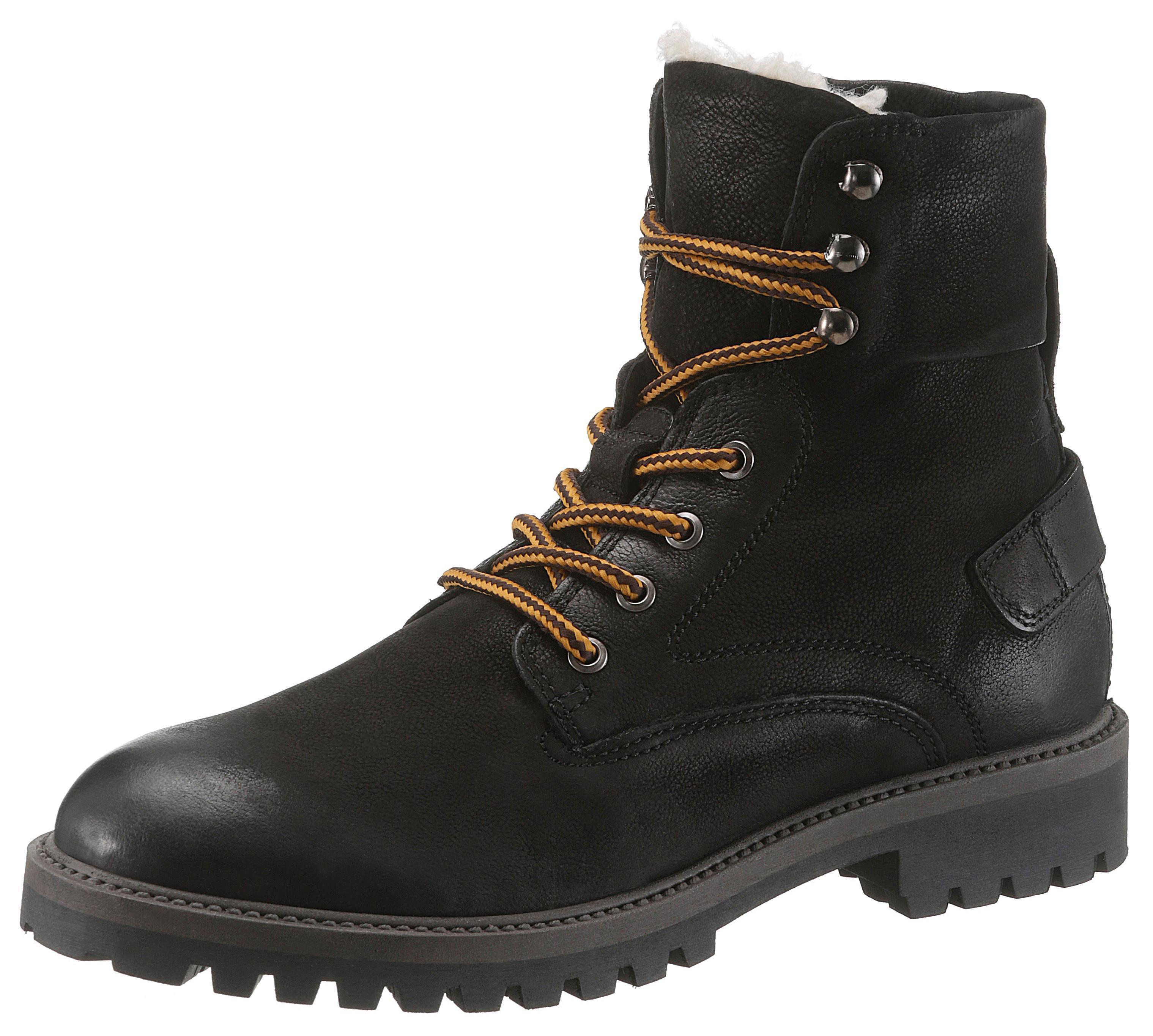 PETROLIO Schnürstiefel | Schuhe > Boots > Stiefel | Schwarz | Leder | Petrolio