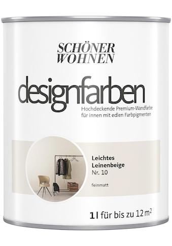 SCHÖNER WOHNEN-Kollektion Wand- und Deckenfarbe »Designfarben«, hochdeckend, Leichtes... kaufen
