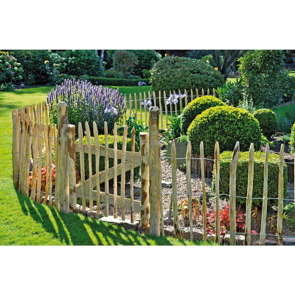 T&J Gartenzaun »Rollzaun Rosswell 1«, 90 cm hoch, 2 Elemente + 1 Tür für 11 Meter Zaun, mit 10 Pfosten