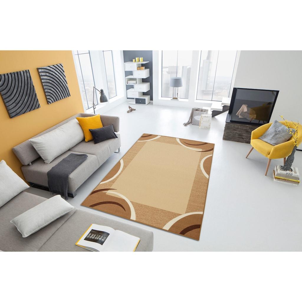 THEKO Teppich »Loures«, rechteckig, 6 mm Höhe, mit Bordüre