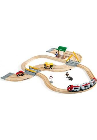 BRIO® Spielzeug-Eisenbahn »BRIO® WORLD Straßen & Schienen Reisezug Set«, FSC®-Holz aus... kaufen