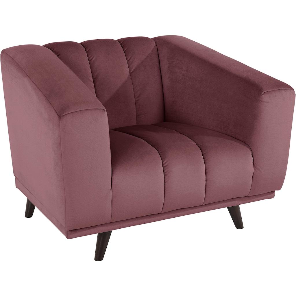 INOSIGN Sessel »Rimini«, mit ungewöhnlicher Steppung in modernem Design