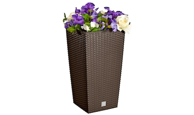 PROSPERPLAST Blumentopf »Rati Square 325«, braun, BxTxH: 33x33x61 cm kaufen