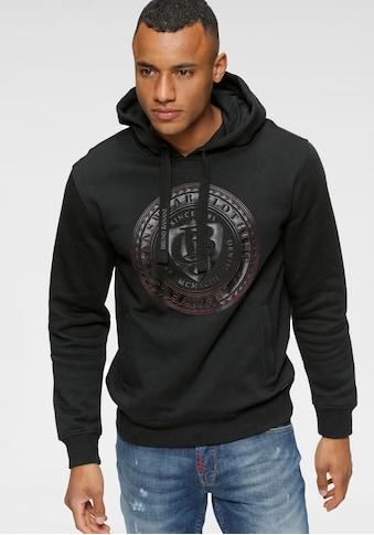 Bruno Banani Kapuzensweatshirt, mit gummierten Markenprint vorne kaufen