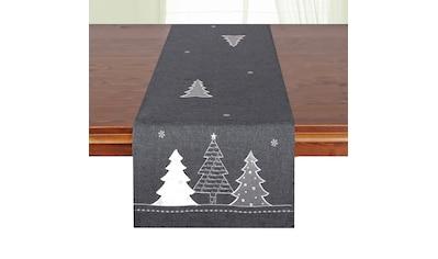 Delindo Lifestyle Tischläufer »Tannenbaum«, (1 St.), Glattes Gewebe, bestickt kaufen