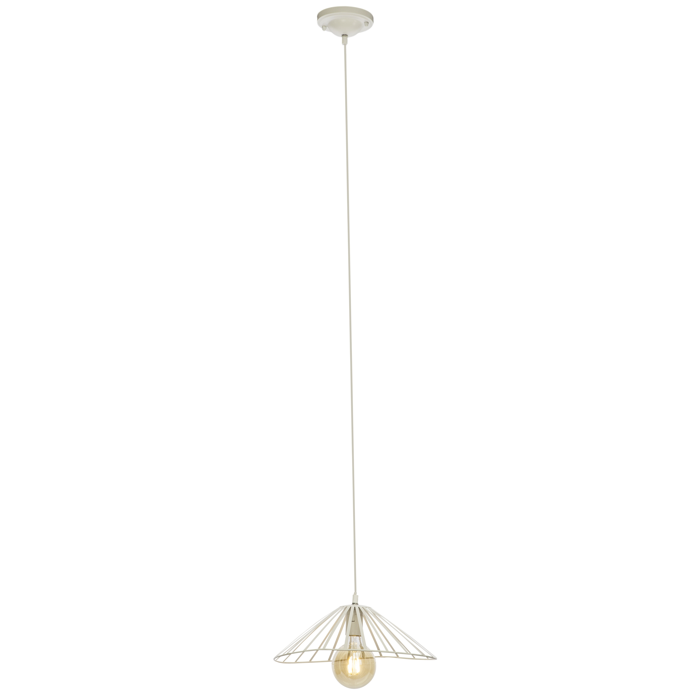 Brilliant Leuchten Akola Pendelleuchte 37cm weiß