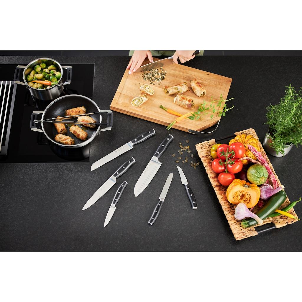RÖSLE Schälmesser »Tradition«, (1 tlg.), scharfes Küchenmesser zum Putzen und Schälen von Obst und Gemüse, Klingenspezialstahl, ergonomischer Griff