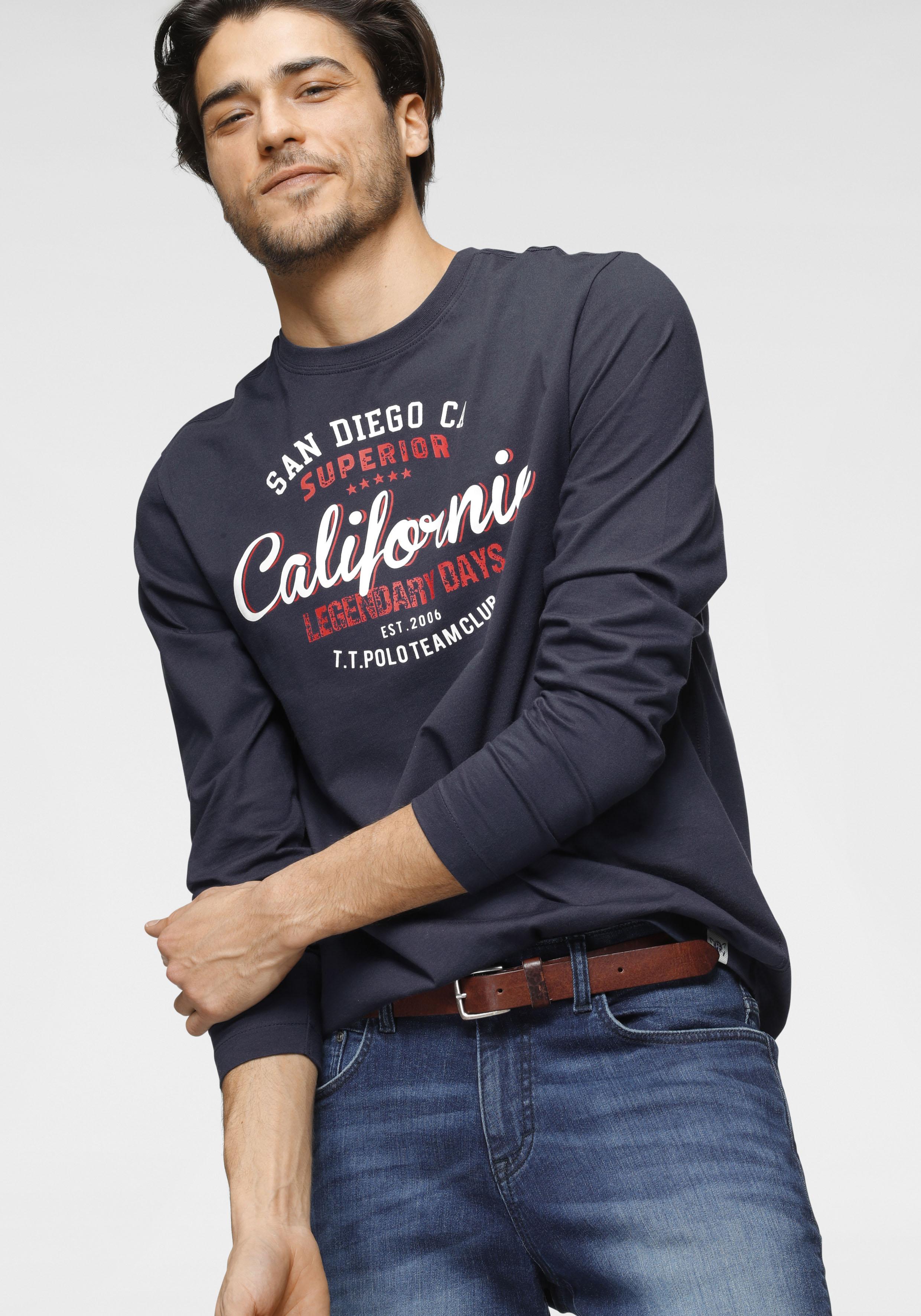 tom tailor polo team -  Langarmshirt, mit Logofrontprint