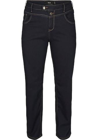 Zizzi Straight-Jeans »Gemma«, Stickerei auf den Potaschen kaufen