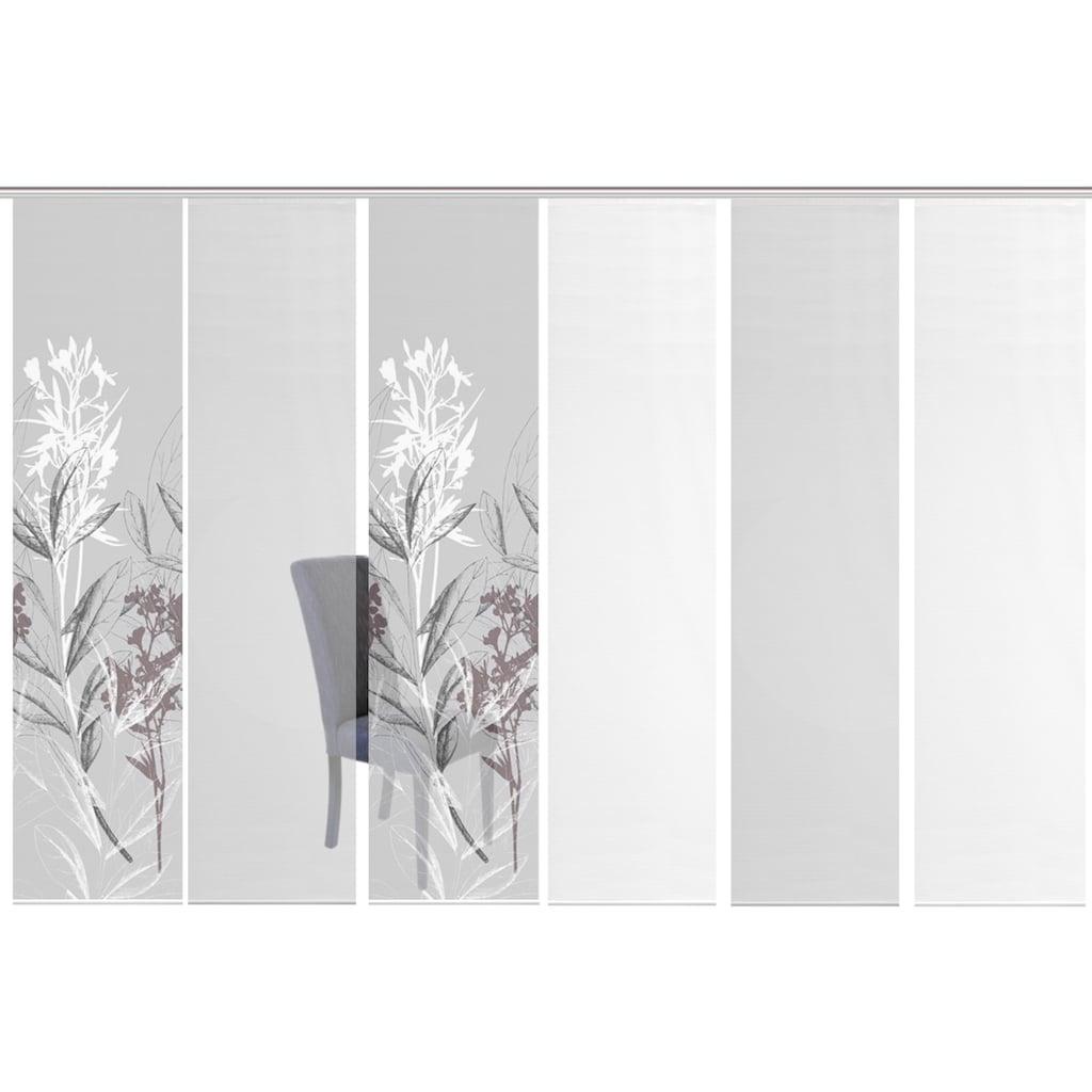 Vision S Schiebegardine »6ER SET SEMORA«, HxB: 260x60, Schiebevorhang 6er Set Digitaldruck