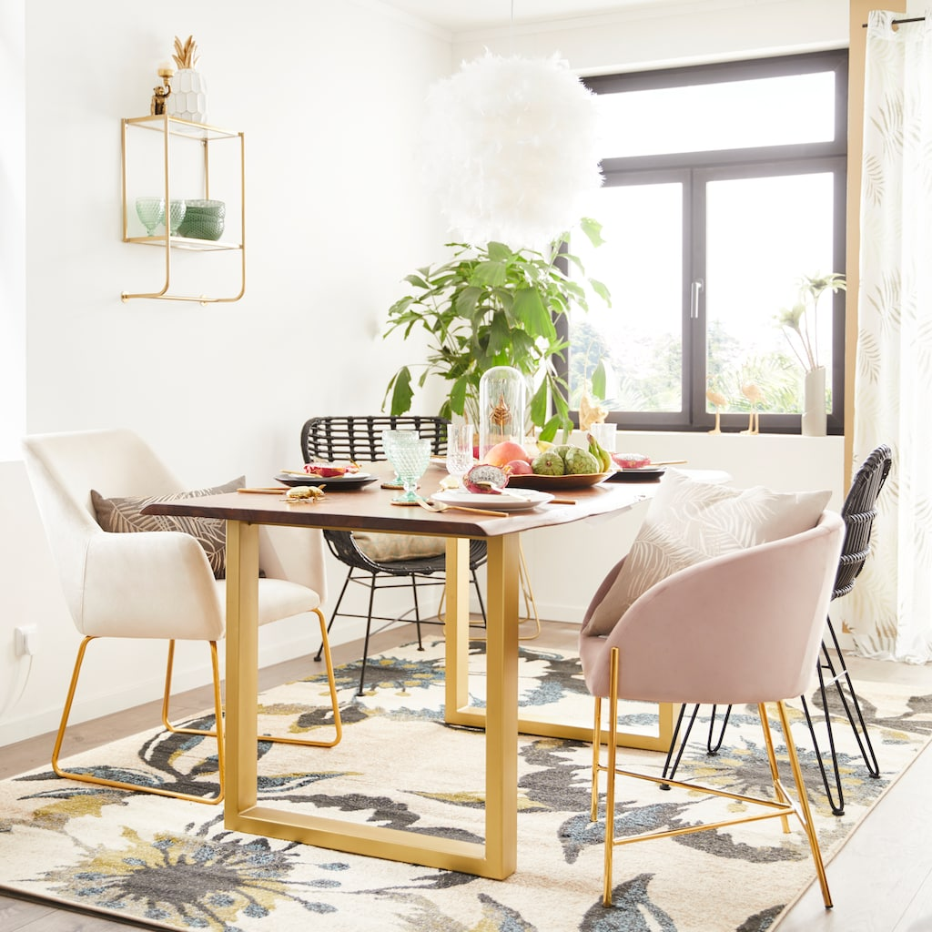 SIT Esstisch »Tops&Tables«, mit elegantem goldfarbenem Gestell