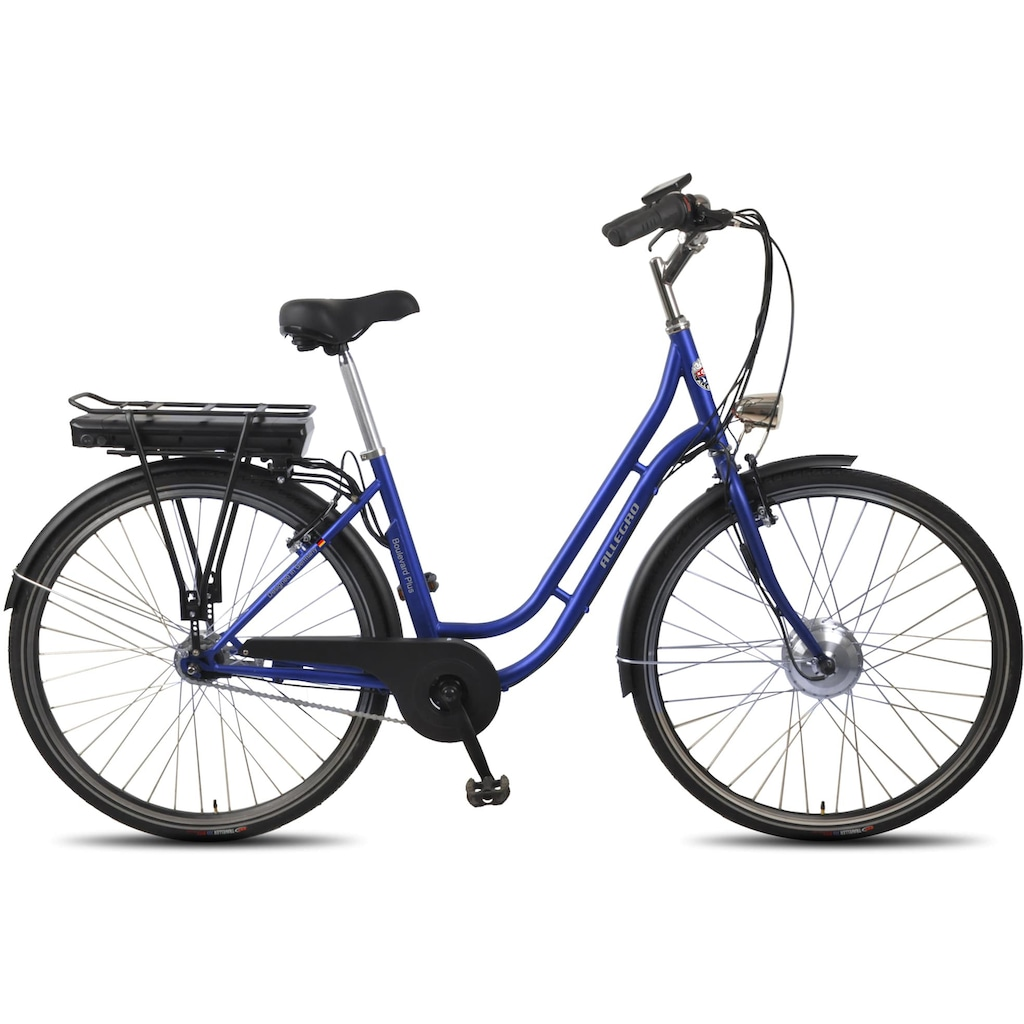 ALLEGRO E-Bike »Boulevard Plus 03 Blue«, 7 Gang, Shimano, Nexus, Frontmotor 250 W