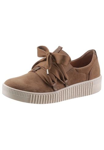 Gabor Slip-On Sneaker, mit aufgesetzter Zierschnürung kaufen