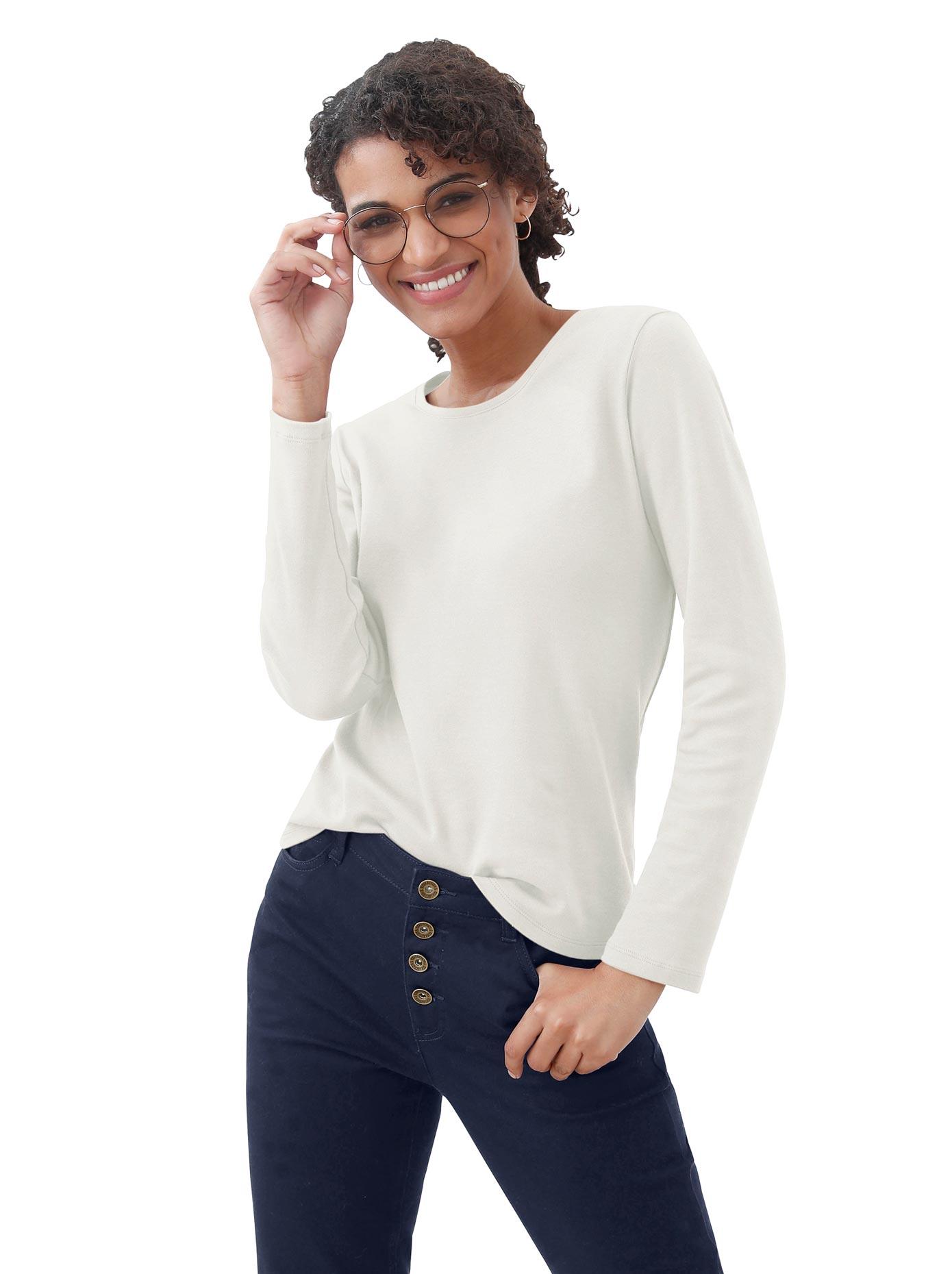 casual looks -  Shirt aus formstabilem Interlock