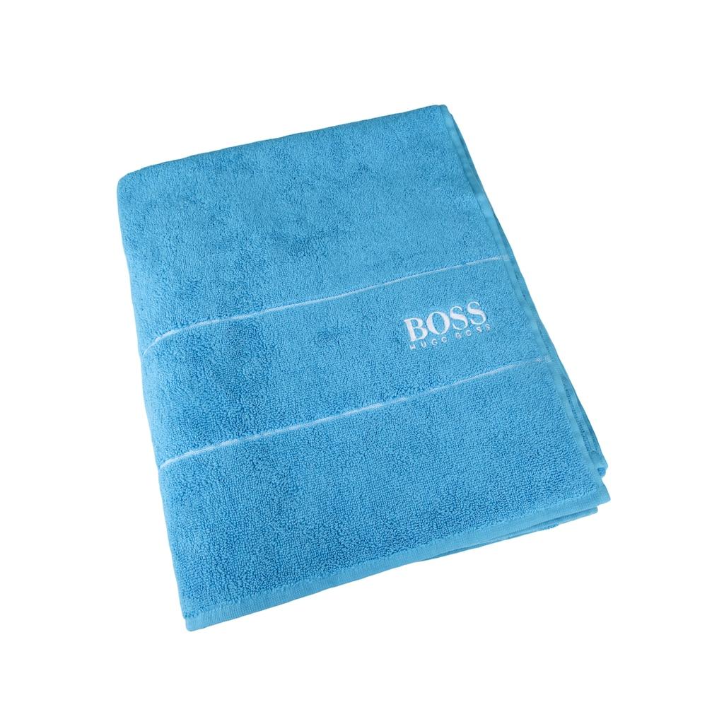 Hugo Boss Home Badetuch »PLAIN«, (1 St.), aus ägyptischer Baumwolle