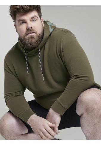 TOM TAILOR Men Plus Kapuzensweatshirt »Hoodie mit Kapuzen-Print« kaufen