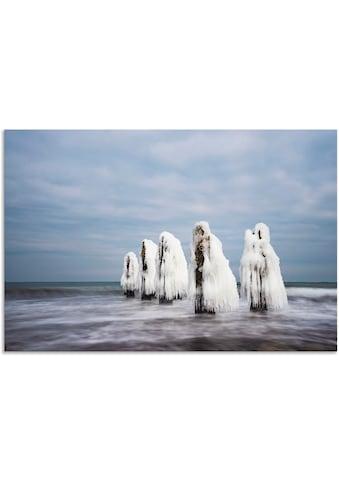 Artland Wandbild »Winter an der Küste der Ostsee II«, Küste, (1 St.), in vielen Größen... kaufen