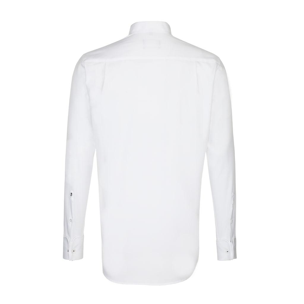 seidensticker Smokinghemd »Regular«, Regular Langarm Kentkragen Uni