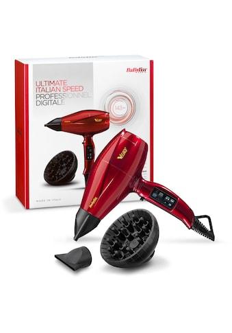BaByliss Ionic-Haartrockner »6750DE«, 2200 W, 3 Aufsätze, leicht, extreme Power, hochwertig, made in Italy kaufen