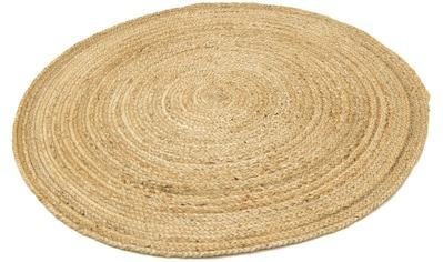 morgenland Teppich »Sisalteppich Teppich Indigo«, rund, 7 mm Höhe, Wohnzimmer kaufen