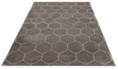 Leonique Teppich »Amalia«, rechteckig, 12 mm Höhe, Hoch-Tief-Effekt, Wohnzimmer kaufen
