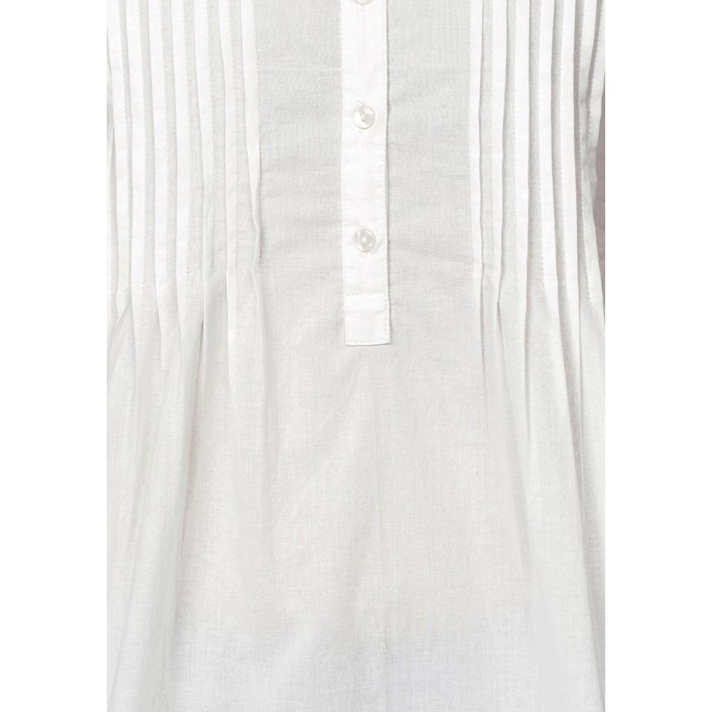 Aniston CASUAL Longbluse, mit dekorativer Biesenverarbeitung
