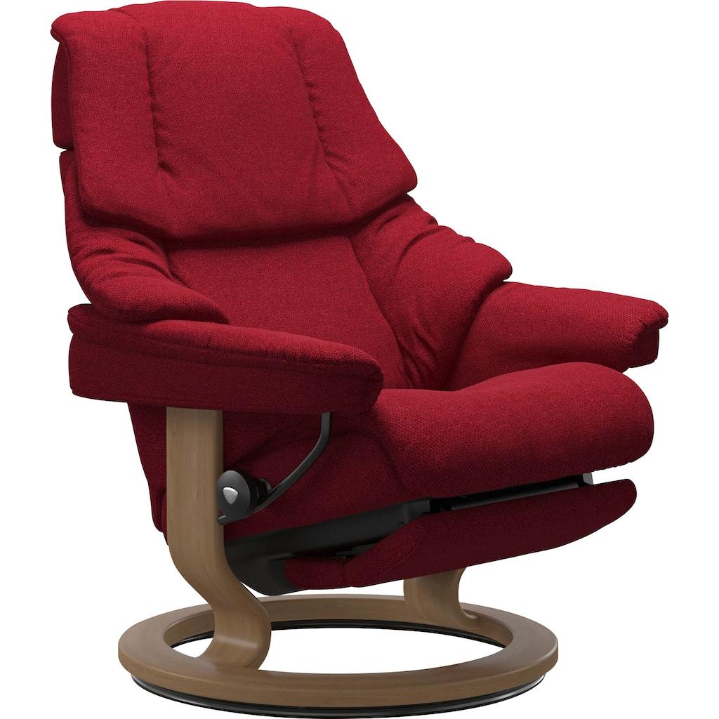 Stressless® Relaxsessel »Reno«, mit Classic Base und Power™, elektrisch verstellbar, optional 2-motorisch, Größe M & L, Gestell Eiche