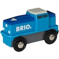 BRIO® Spielzeug-Lokomotive »BRIO® WORLD Blaue Batterie-Frachtlok«, FSC® - schützt Wald - weltweit