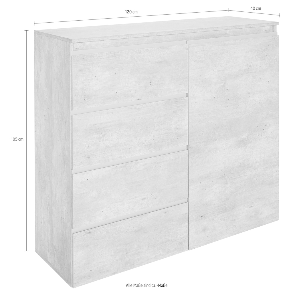 Tecnos Highboard »Magic«, Breite 120 cm, ohne Beleuchtung