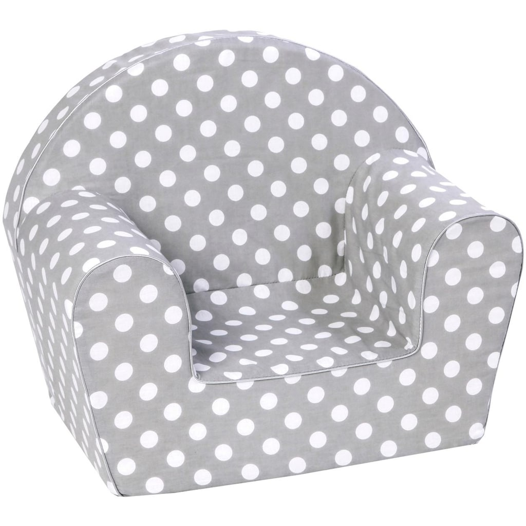 Knorrtoys® Sessel »Dots, grey«, Made in Europe