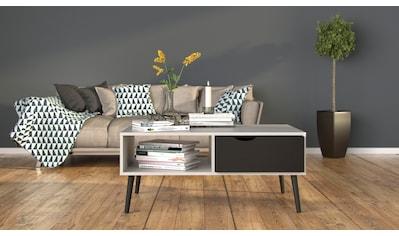 Home affaire Couchtisch »Oslo«, grifflose Schublade, zweifarbig, Made in Denmark, Offenes Ablagefach, Breite 98,7 cm kaufen