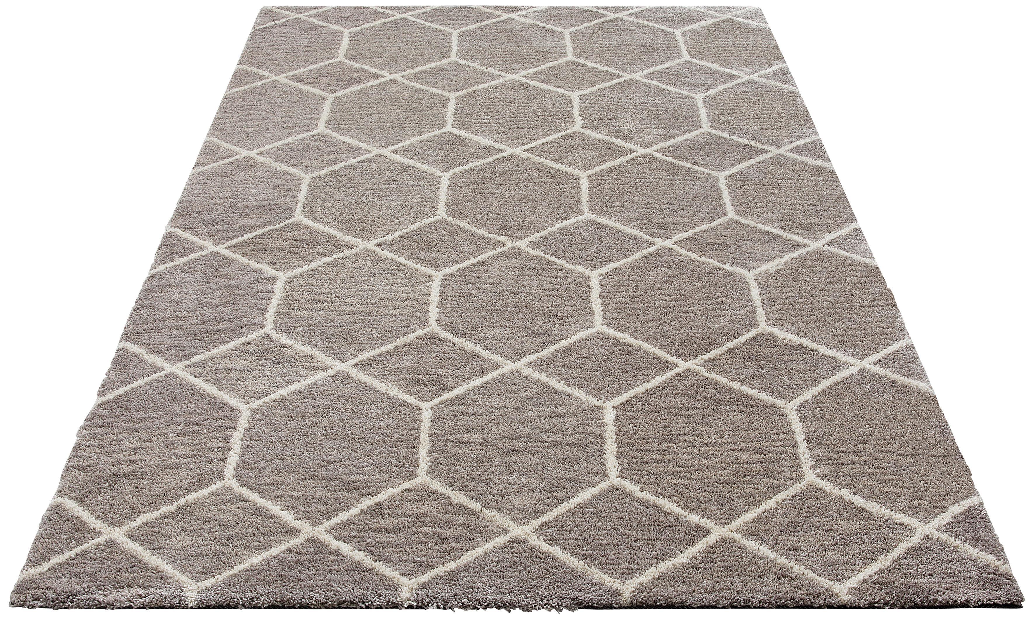 Hochflor-Teppich Lasar my home rechteckig Höhe 25 mm maschinell getuftet