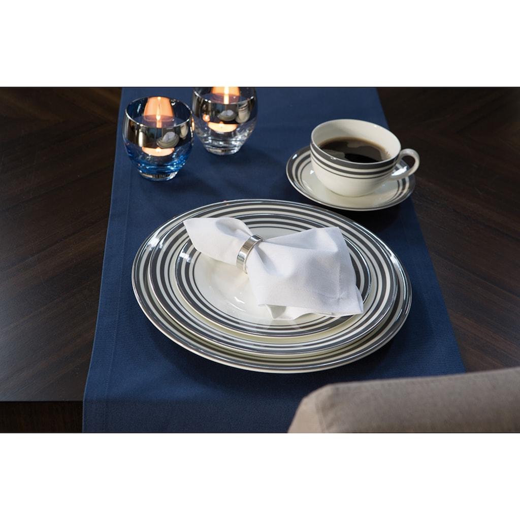 Fink Pastateller »Moments«, (Set, 4 St.), Ø 30 cm, Porzellan mit 3 Streifen