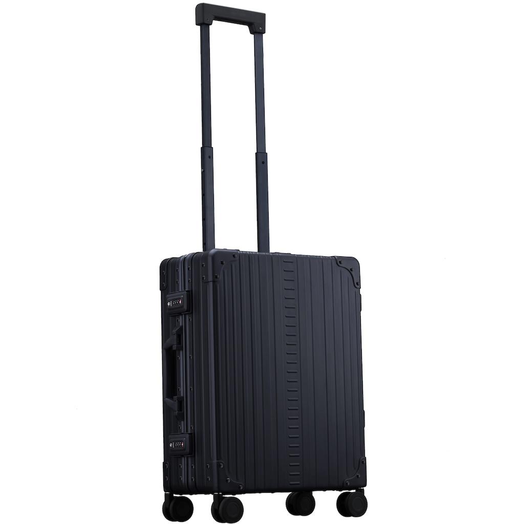 ALEON Hartschalen-Trolley »Aluminiumkoffer International Carry-On, 55 cm«, 4 Rollen, inkl. Kabeltasche, Packwürfel und Schutzhülle